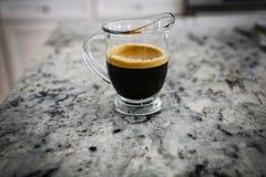 Двойная съемка кофе эспрессо стоковые фотографии rf