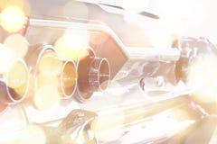 Двойная экспозиция автомобиля и Bokeh Стоковая Фотография
