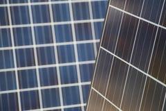 Двойники панели солнечных батарей стоковое фото rf