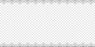 Двойник прямоугольника хеллоуина вверх и вниз spiderweb гранича с космосом экземпляра на прозрачной предпосылке иллюстрация штока