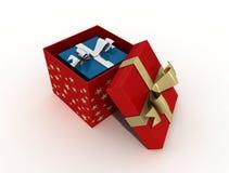 двойник рождества коробки Стоковое Изображение RF