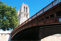 Двойник au Нотр-Дам и Pont стоковое изображение