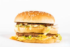 двойник cheeseburger Стоковое фото RF