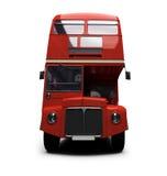 двойник decker autobus над красной белизной Стоковая Фотография RF