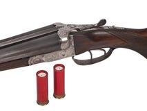 Двойное корокоствольное оружие бочонка Стоковая Фотография
