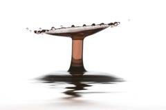 двойное красное вино выплеска Стоковое Фото