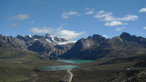 Двойное озеро в Тибете, Китае Стоковые Фотографии RF