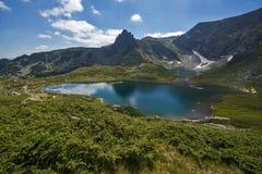 Двойное озеро, 7 озер Rila, гора Rila Стоковая Фотография