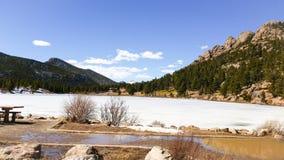 Двойное озеро сестр Стоковые Изображения
