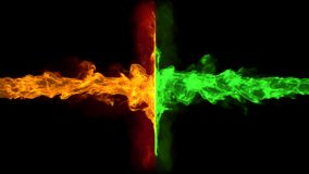 Двойное пламя Стоковые Изображения