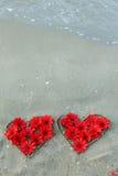 Двойное сердце от цветков Стоковые Изображения