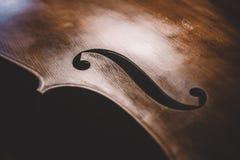 Двойной бас в неприкрашенной конструкции стоковое фото