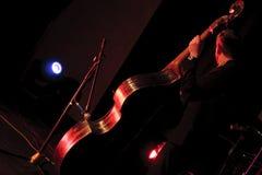Двойной выполнять бас-гитариста на сцене Стоковые Фотографии RF
