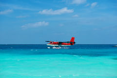 Двойной гидросамолет выдры на Мальдивах Стоковое Изображение RF