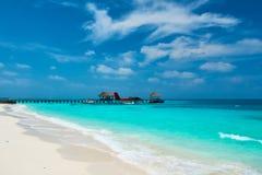 Двойной гидросамолет выдры на Мальдивах Стоковая Фотография