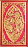 двойной дракон золотистый Стоковая Фотография RF