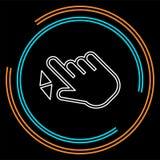 Двойной палец крана - значок указателя иллюстрация штока