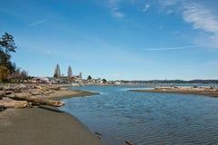 Двойной пляж блефа в штате Вашингтоне Стоковое Изображение RF