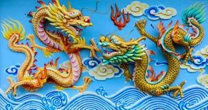 Двойной дракон Стоковые Изображения