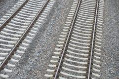 двойной след железной дороги Стоковое Фото