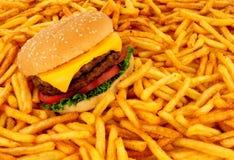 Двойной сэндвич чизбургера стоковые изображения rf