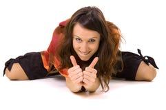 двойные большие пальцы руки вверх Стоковые Изображения RF