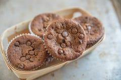Двойные булочки обломока шоколада Стоковое фото RF