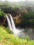 Двойные водопады в Гаваи Стоковое Фото