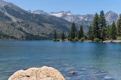 Двойные озера, восточный ряд сьерра-невады стоковое изображение