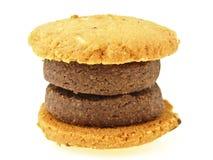 Двойные печенья гамбургера Стоковая Фотография