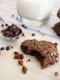 Двойные печенья шоколада Стоковое фото RF