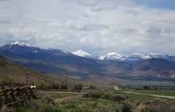 Двойные пики, Challis, Айдахо стоковая фотография