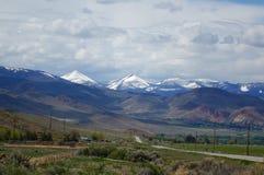 Двойные пики, Challis, Айдахо стоковое фото rf