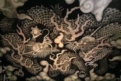 Двойные драконы крася на виске Kennin-ji в Киото Стоковое фото RF