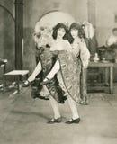 Двойные танцоры стоковое фото