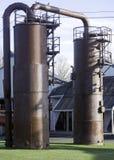 Двойные трубы на Gasworks Стоковая Фотография RF