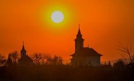 Двойные церков Стоковая Фотография