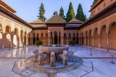 Дворец Альгамбра Стоковое Изображение
