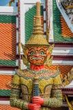 Дворец Бангкок Таиланд Atsakanmala гигантского yaksha демона грандиозный Стоковые Изображения