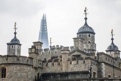 Дворец башни города Лондона предпосылка черепка Стоковая Фотография