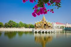 Дворец боли челки Phra Nakhon Si Ayutthaya Таиланда Стоковые Фотографии RF