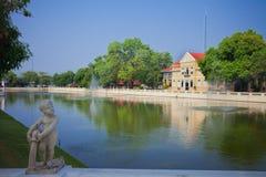 Дворец боли челки Phra Nakhon Si Ayutthaya Таиланда Стоковое Изображение