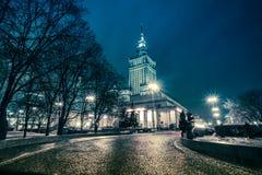 Дворец Варшавы культуры и науки, Польши Стоковые Фотографии RF