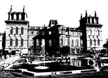 дворец Великобритания blenheim иллюстрация вектора