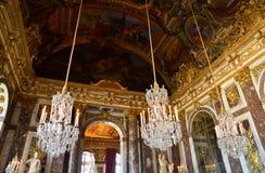 Дворец Версаль в Иль-де-Франс Стоковые Изображения