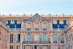 Дворец Версаль на дневном свете в цветах апельсина и teal стоковое изображение