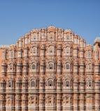 Дворец ветров, Джайпур дворца Hawa Mahal, Раджастхан Indaia стоковое фото rf