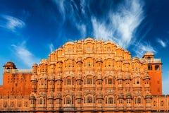 Дворец ветров, Джайпур Hawa Mahal, Раджастхан Стоковое Изображение RF