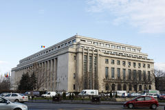 Дворец Виктория - румынское правительство Стоковые Изображения RF