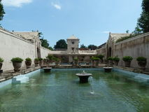 Дворец воды в Jogja стоковая фотография